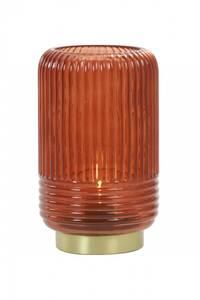 Bilde av Bordlampe Lipa med rødt glass